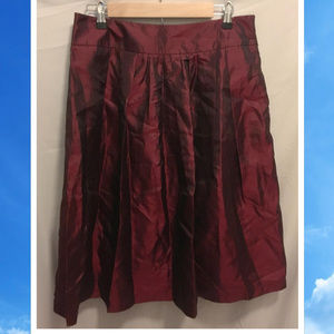 Size 10 Worthington Skirt Deep Red Shiny Cute